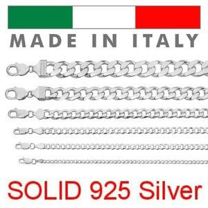 Harlembling Solid 925 Sterling Silver Cuban Chain